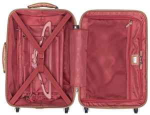 Delsey Luggage Chatelet Carry On Luggage inside view
