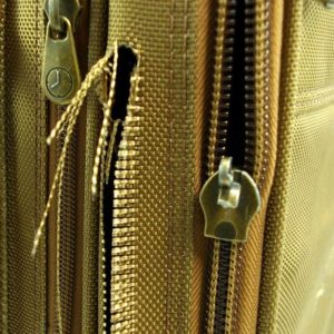 broken zipper on luggage