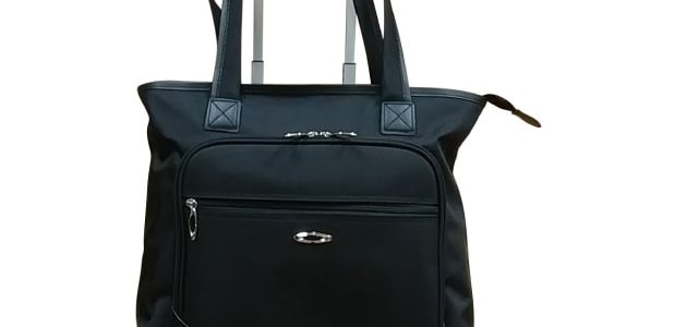 Black rolling tote
