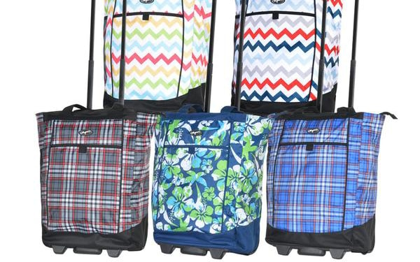 5 rolling shopper totes