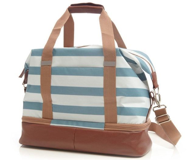 Stripped duffel bag