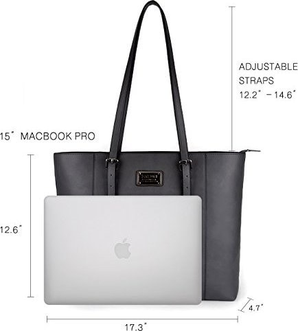 Laptop and a tote bag